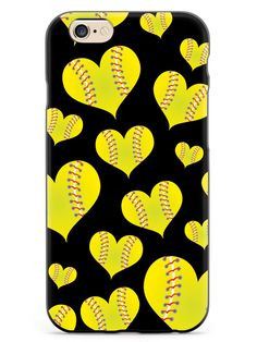 Softball Heart Pattern Case for iPhone 6