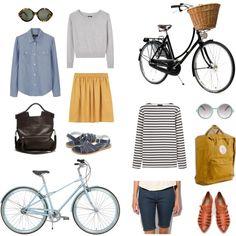 Look at this fun, casual, biking ensemble!