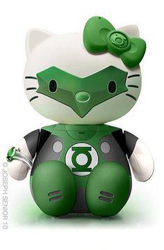 hello kitty green lantern. La combinación de gustos de Hija y Papá