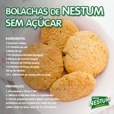 E se em vez de açúcar usasse Nestum? Descubra e experimente estas deliciosas bolachas! :)