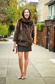 love this pull over faux fur jacket.