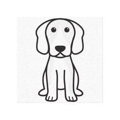 Beagle Dog Cartoon Stretched Canvas Prints