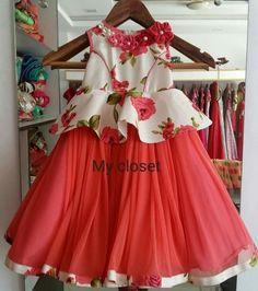 Frocks For Girls, Little Girl Dresses, Girls Dresses, Kids Dress Wear, Kids Gown, Toddler Dress, Baby Dress, Kids Blouse Designs, Kids Dress Patterns