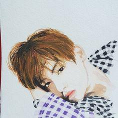BTS' V fanart watercolor