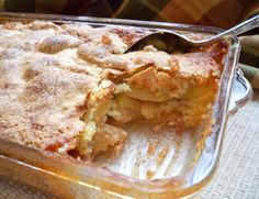 Cinnamon Apple Cobbler Recipe- I replaced part of the white flour with wheat flour and added much more cinnamon