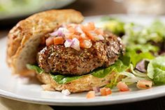 Hamburger mit Würfeln