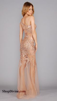 long prom dress 2013 Gold Jovani mermaid beaded long gown with ...