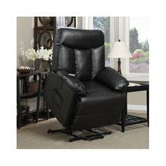 Lift Chair Recliner Electric Power Renu Leather Comfort Full Recline Motion Assist Medical Lounge Black >>> Check out this great product.