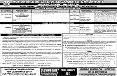 latest jobs in Punjab Public Service Commission Ppsc lahore 2016