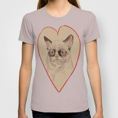 Grumpy Cat Love T-shirt. I am obsessed with grumpy cat. @Ciara Andrus
