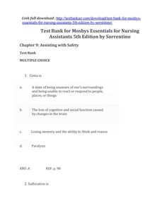 69 best test bank images on pinterest manual online library and download test bank for mosbys essentials for nursing assistants 5th edition by sorrentino fandeluxe Images