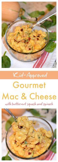 This mac & cheese recipe includes hidden veggies! My kids love this stuff!