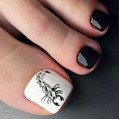 Cute Toe Nails, Cute Toes, Toe Nail Art, Pretty Nails, Pedicure Designs, Toe Nail Designs, Acrylic Nail Shapes, Acrylic Nails, Feet Nail Design