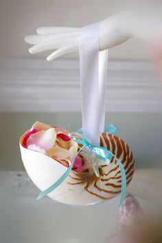 Nautilus Shell for the flower girl. I just made mine!