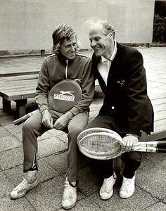 Björn Borg and Lennart Bergelin