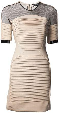Sheer Panel Dress - Lyst