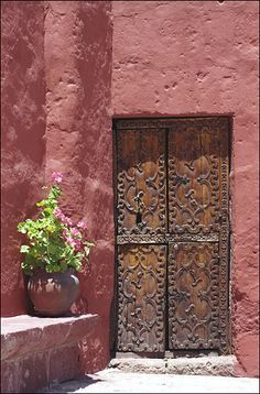 Rustic wooden door in Peru #doors