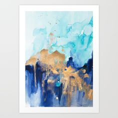 Abstract watercolor  Art Print