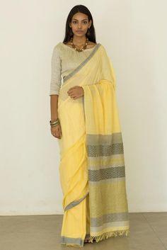 Lemon Peel Saree from FashionMarket.lk