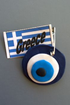 Greece - Evil Eye SWAP Preschool Crafts, Crafts For Kids, Greece Girl, Greece Country, Multicultural Crafts, Greek Crafts, Clever Kids, World Thinking Day, Girl Scout Swap