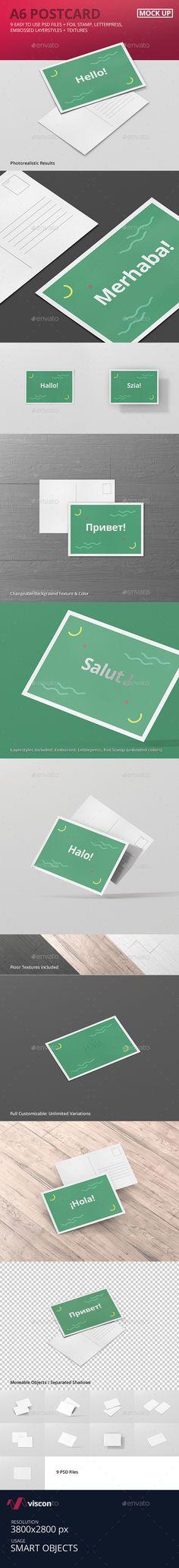 A6 Postcard / Flyer Mockup #design Download: http://graphicriver.net/item/a6-postcard-flyer-mockup/14387938?ref=ksioks