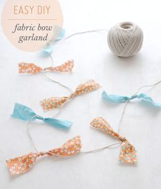 Fabric Bow Garland