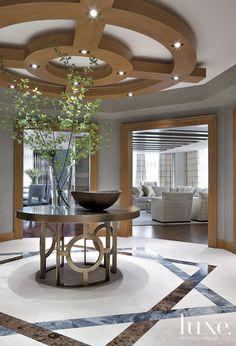 Contemporary Gray Circular Foyer
