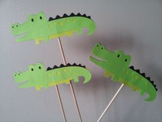 5 ALLIGATOR  centerpieces party decorations by diapercake4less, $8.99