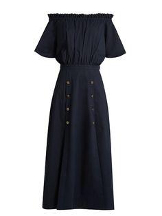 Dakota off-the-shoulder midi dress   Saloni   MATCHESFASHION.COM US
