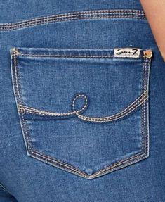 Trendy Plus Size Cropped Skinny Jeans - Blue Plus Size Skinny Jeans, Cropped Skinny Jeans, Sewing Jeans, Sewing Diy, Dresses For Apple Shape, Dress For Petite Women, Viking Clothing, Plus Size Skirts, Denim Branding
