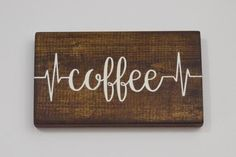 Coffee Sign   Coffee Bar Sign   Hand Painted Wood Sign   Kitchen Decor   Wall Art