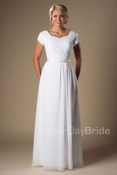 'Longmont' modest bride, modest gown, modest wedding ideas