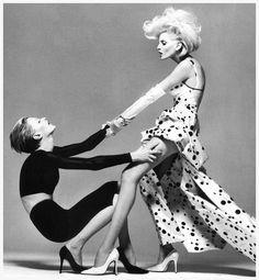 Kristen McMenamy & Nadja (right )by Richard Avedon for Versace's campaign Spring 1995