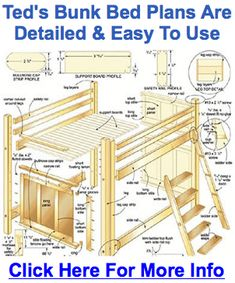 This Wood furniture plans woodworking plans 7 m elegant photos and collection about Wood furniture plans wonderful. Easy wood furniture plans slab patterns amish for sale old real outside natural Wood Furnitures images that are related to it Build A Loft Bed, Loft Bed Plans, Woodworking Furniture Plans, Easy Woodworking Projects, Teds Woodworking, Wood Projects, Wood Furniture, Furniture Projects, Carpentry Projects