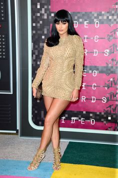 Kylie Jenner in Balmain at the 2015 MTV Video Music Awards. (Photo: Frazer Harrison/Getty Images)