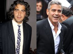 GEORGE CLOONEY A lot of hair then, silver fox now, the award-winning actor has been in show business for years and got his start on TV in 19...