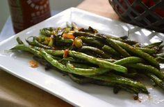 Sweet & spicy Szechuan green beans!