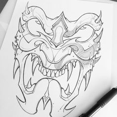 "1,986 To se mi líbí, 11 komentářů – Jared Mirabile (@sweyda) na Instagramu: ""Good enough. Off to the client. #samurai #mask #sweyda #studiolife #pencil #illustration"""