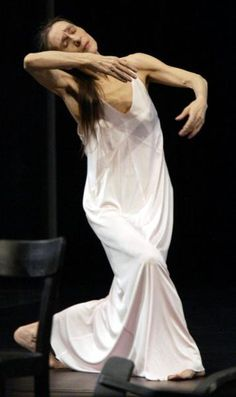 "Pina Bausch, extraordinary dancer and choreographer. A still photo can't do justice to her. See Wim Wenders' movie ""Pina"""