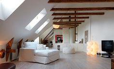 屋根裏が自慢の家