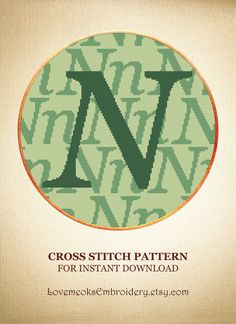 "This is a modern cross stitch pattern of ""Letter N"" for instantly downloadable after purchase, so you can start stitching right away! Embroider with pleasure and decorate your house with your beautiful works! Design 11. DMC colors: 3, 140 stitches wide x 140 stitches high"