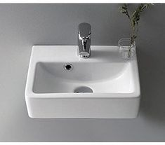 Buy the Nameeks CeraStyle Hole White / One Hole Direct. Shop for the Nameeks CeraStyle Hole White / One Hole Mini Ceramic Wall Mounted/Vessel Bathroom Sink with Hole Drilled - Includes Overflow and save. Corner Sink Bathroom, Drop In Bathroom Sinks, Wall Mounted Bathroom Sinks, Modern Bathroom, White Bathroom, Bathroom Ideas, Basement Bathroom, Handicap Bathroom, Attic Bathroom