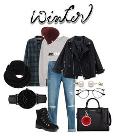 """Winter Streetstyle"" by yuanlatumahina on Polyvore featuring MANGO, White House Black Market, G.H. Bass & Co., CLUSE, Karl Lagerfeld, L.K.Bennett, prAna, Ray-Ban, StreetStyle and Winter"