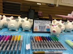 Peppa Pig Party Piggy Bank Decorating Use decorative permanent markers in lieu of messy paint!
