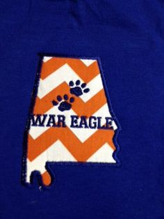 Alabama  or Auburn T Shirts---Using different combinations of houndstooth colors and monogram colors on Etsy, $25.00