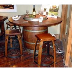 Wine Barrel Bistro Table, a must have!!