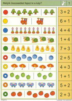 LOGICO Összeadás 10-es számkörben - Katus Csepeli - Picasa Webalbumok Lessons For Kids, Math Lessons, Kindergarten Math, Teaching Math, Sequencing Cards, I Love School, Fun Math, Maths, Preschool Activities