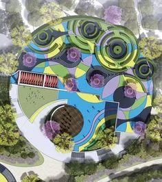Landscape masterplan circle 17 new ideas - Modern Landscape Model, Landscape Architecture Design, Landscape Plans, Concept Architecture, Urban Landscape, Lanscape Design, Paving Design, Plaza Design, Healthcare Architecture