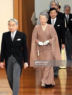 Emperor Akihito, Empress Michiko and royal family members attend the 'Utakai-Hajime-no-Gi,' New Year's Poetry Reading ceremony at the Imperial Palace on January 16, 2008 in Tokyo, Japan. During the annual event at the Imperial Palace, 'waka' poems penned by members of the imperial family, as well as 10 works selected from the public by judges, were recited.