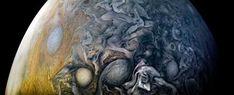 NASA:「美しい」木星の渦公開 探査機が撮影 - 毎日新聞